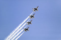 Four US Air Force F-16C Fighting Falcons Royalty Free Stock Images