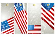 Four USA labels Royalty Free Stock Photos