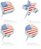 Four USA pins stock illustration