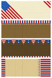 Four  usa wooden banners Royalty Free Stock Photos