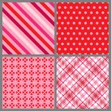 Four Valentine Patterns Stock Photography