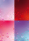 Four Valentines Backgrounds Stock Photo