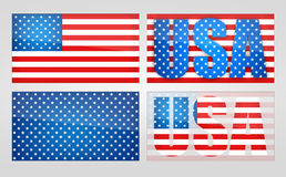Four variants of the symbolism USA. Stock Images