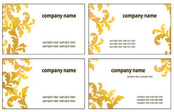 Four variants of visit cards. Four variants of greeting cards. Vector illustration Stock Photos