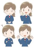 Business woman expression set stock illustration