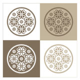 Four varied background designs. Four different variation of colors of a vector design Stock Images