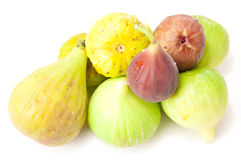 Four varieties of fig Royalty Free Stock Image