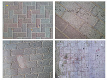 Four various images of the pavement Stock Photography