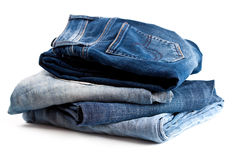 Four various jeans Stock Images