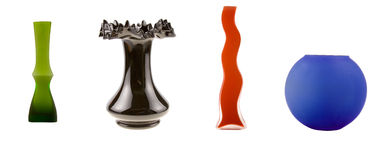 Four vases Royalty Free Stock Photos