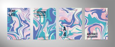 Four vector abstract background A4. Marble texture royalty free illustration