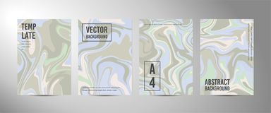 Four vector abstract background A4. Marble texture vector illustration