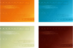 Four Vector Backgrounds Stock Image