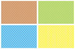 Four vector backgrounds. From patterns vector illustration