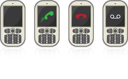 Four vector cellphones Stock Photo