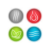 Four vector elements icons. Stock Photo