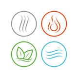 Four vector elements icons. Stock Photos