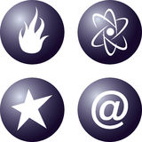 Four vector icon. Circle vector icon Royalty Free Stock Image
