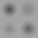 Four vector illustration of a dotted halftone Royalty Free Stock Image