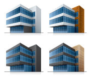 Four vector office buildings. This illustration is EPS10 vector file and includes transparency multiply effects in shadows Stock Image