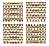Four Vector Patterns. Royalty Free Stock Image