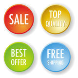 Four vector round badges Stock Images