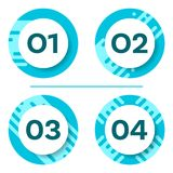 Four vector buttons with numbers Royalty Free Stock Photo