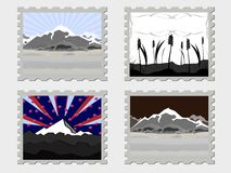 Four vector stamps Royalty Free Stock Photos