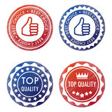 Four vector stamps Stock Images