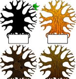 Four_vector_tree Stock Image