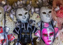 Four Venetian Masks. In a Street Market Royalty Free Stock Image