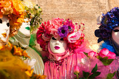Four Venice Masks, Carnival. Royalty Free Stock Photo