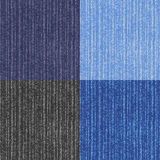 Four versions of the jeans texture. Royalty Free Stock Images