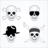 Four versions of the skull Royalty Free Stock Photos