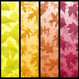 Four vertical autumn banners Royalty Free Stock Image