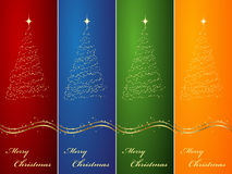 Four vertical banners. Fourvertical ornated Christmas or New Year backgrounds vector illustration