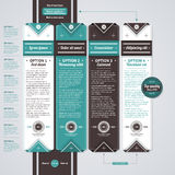 Four vertical banners in retro style. EPS10. Royalty Free Stock Photography