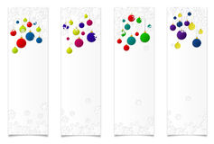 Four vertical banners. Four vertical christmas banners with shadow for web vector illustration