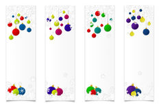 Four vertical christmas banners Royalty Free Stock Photo