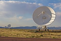 Four of the Very Large Array Dishes royalty free stock image