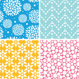 Four vibrant abstract geometric patterns and. Vector set of Four vibrant abstract geometric patterns and backgrounds Royalty Free Stock Photography