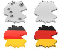 Four view map, germany Royalty Free Stock Photography
