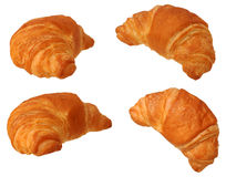 Four view of single croissant Stock Image