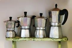 Vintage Italian coffee machine for homemade royalty free stock image
