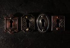 Four vintage locks Stock Image