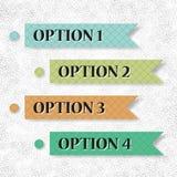 Four vintage options. Vintage options infocraphics for your business vector illustration