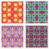 Four Vintage Patterns. Set of four vintage seamless patterns. EPS 8 vector illustration with CMYK global colors Royalty Free Stock Images