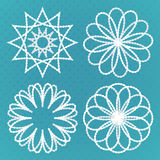 Four vintage round ornaments set Royalty Free Stock Images