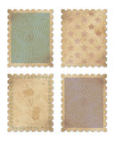 Four vintage stamps Royalty Free Stock Photography