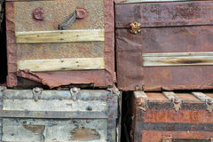 Four Vintage Trunks Royalty Free Stock Image